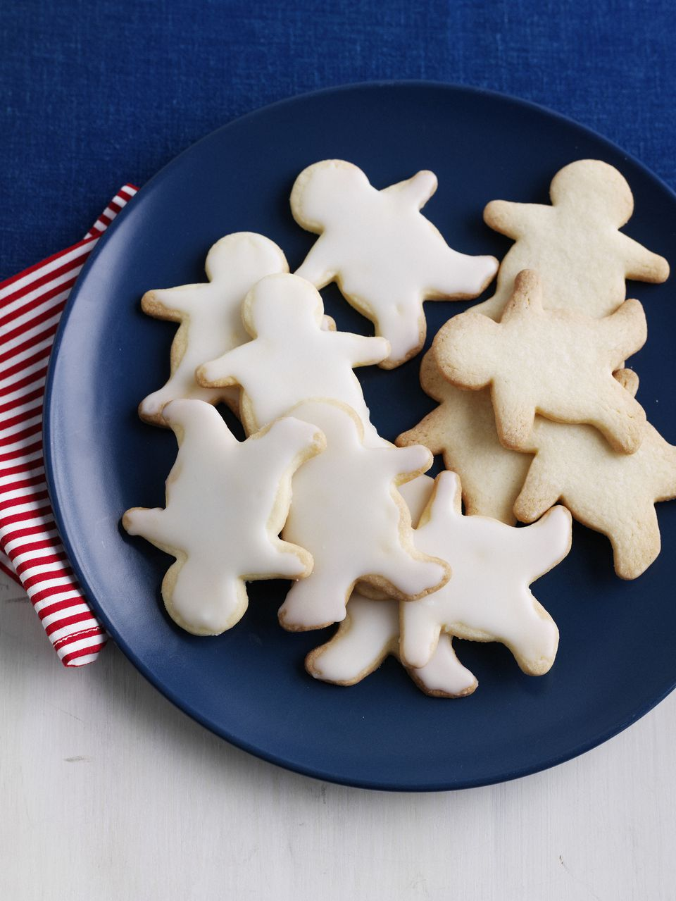 Plate of decorative sugar cookies