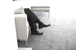 Low section view of businessman?s legs