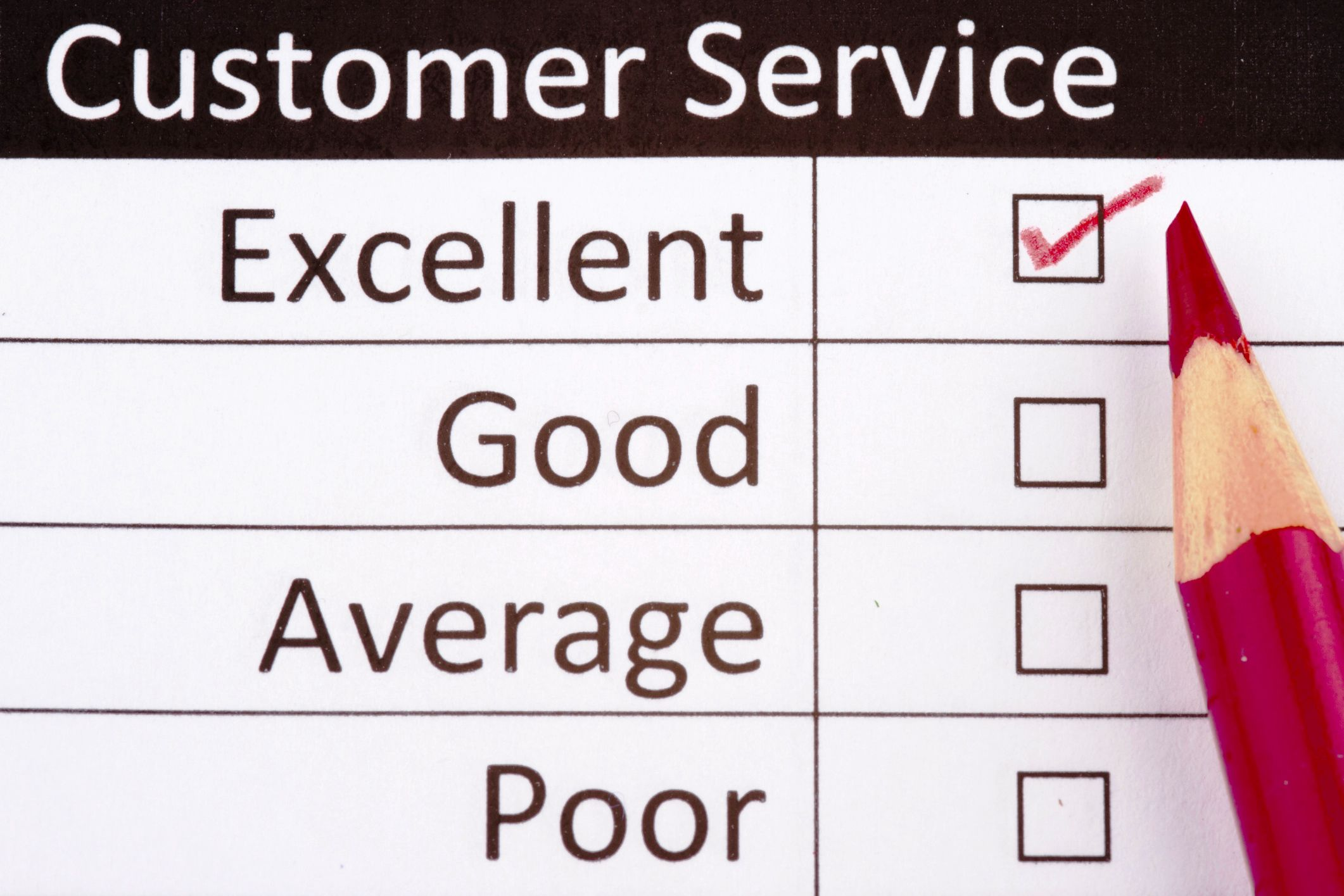Writing about excellent customer service