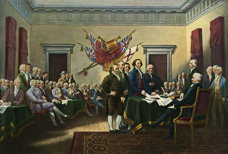 'Signing the Declaration of Independence, 28th June 1776' - painting by John Trumbull