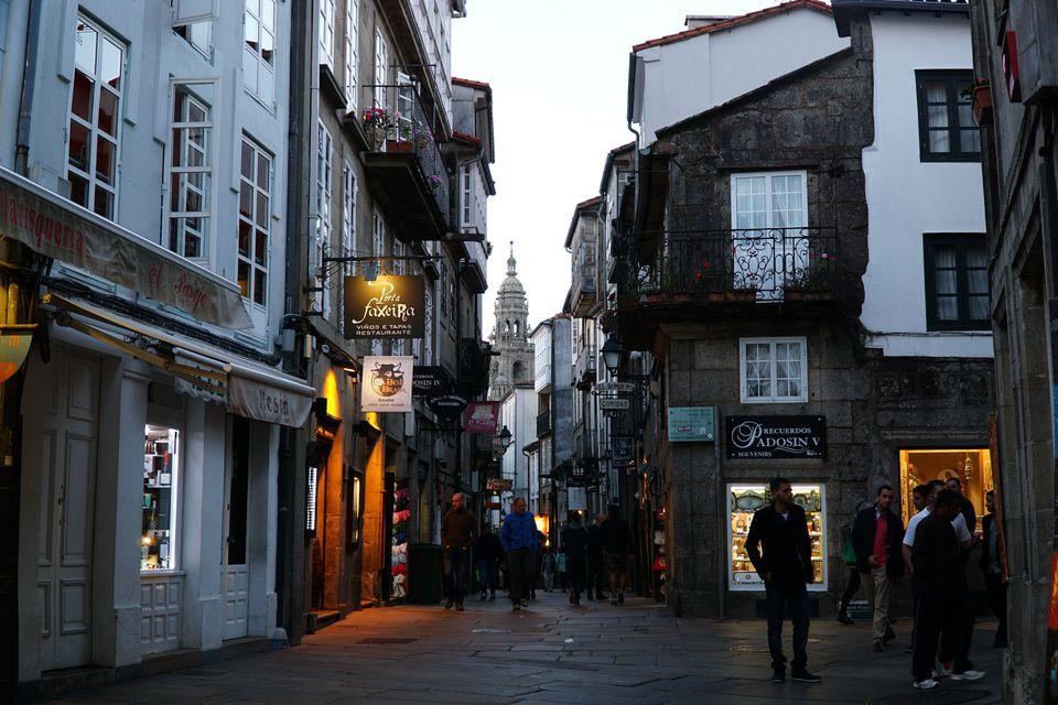 The UNESCO protected old town of Santiago de Compostela
