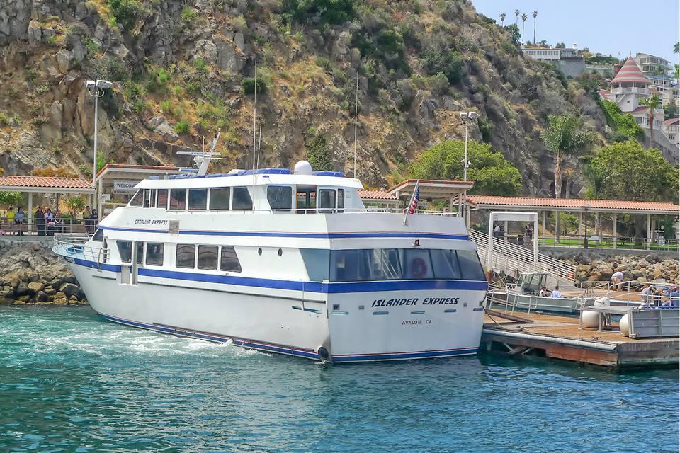 Ferry Docked in Avalon Harbor