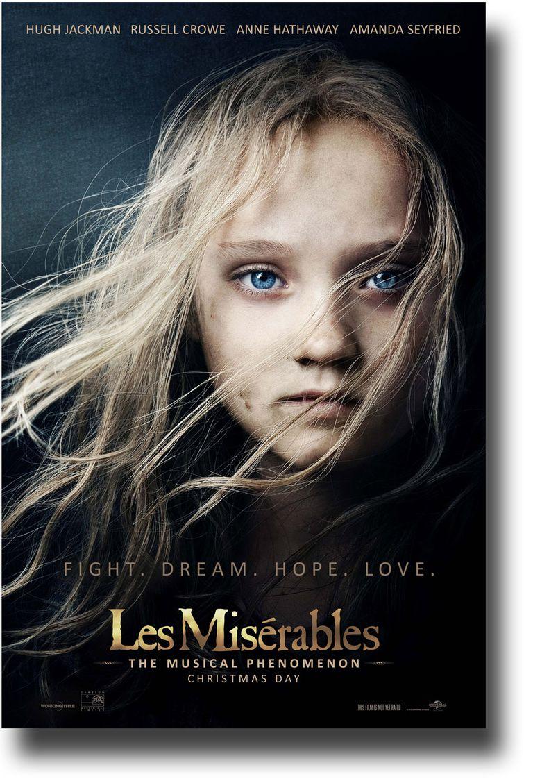 Poster de Los miserables, de Tom Hooper.