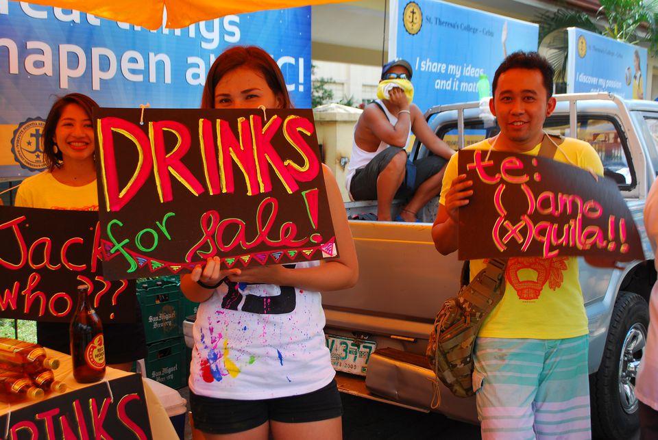 Drinks stall at Sinulog Festival in Cebu, Philippines