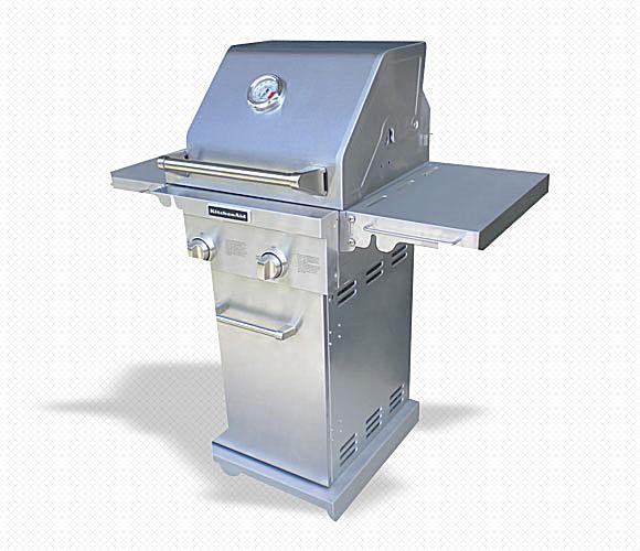 KitchenAid 2-Burner All Stainless Steel Pedestal Gas Grill Model# 720-0819