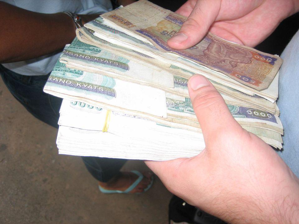 Currency in Myanmar - kyat