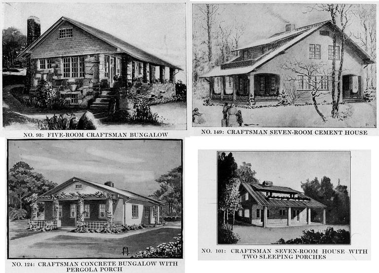 4 Popular Craftsman Houses from September 1916