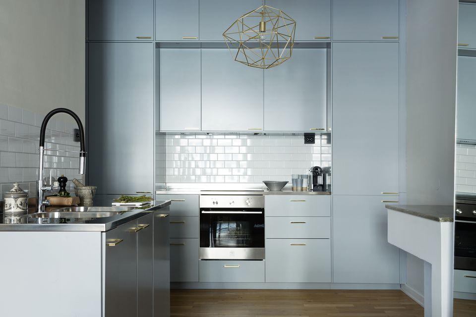 Blue Kitchen Colors. Muted dusty blue kitchen Beautiful Blue Kitchen Design Ideas