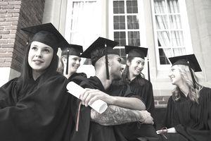 College graduates with diplomas