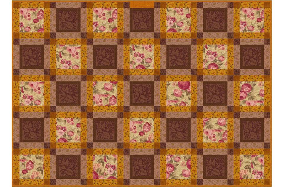 Continuous Squares Quilt Pattern