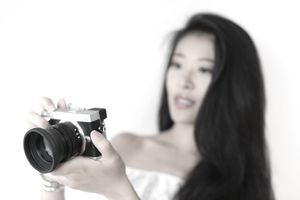 Asian Girl and Camera