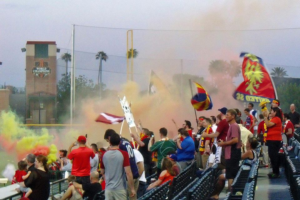 Enthusiastic Fans of Phoenix Rising FC