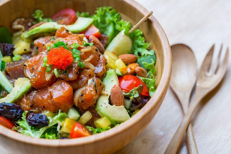 Poke salad bowl