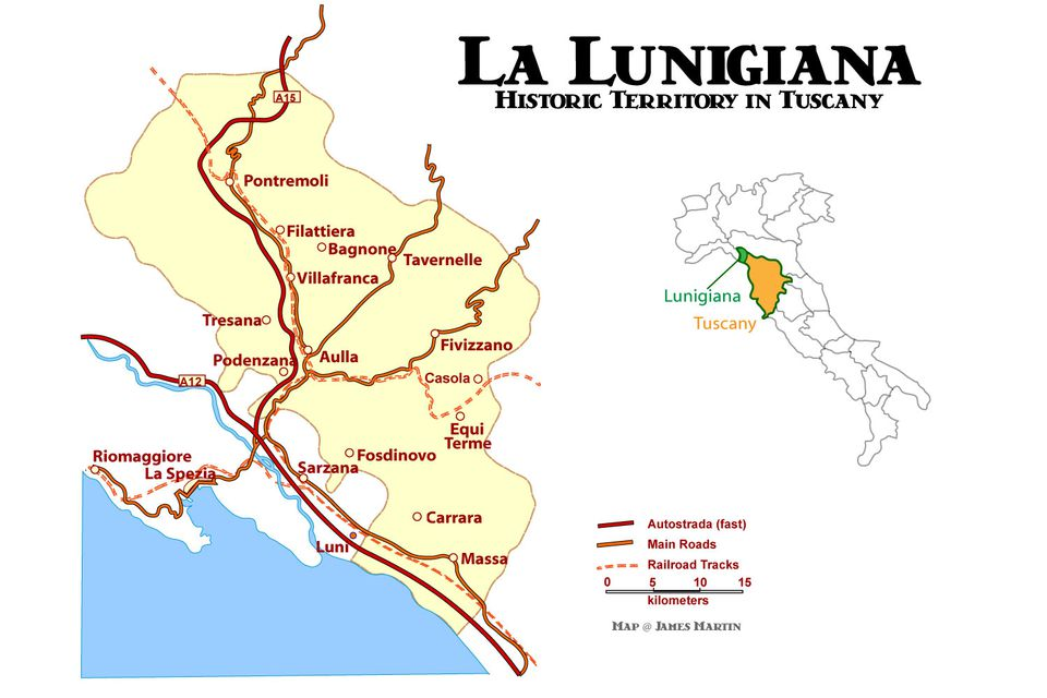 lunigiana map