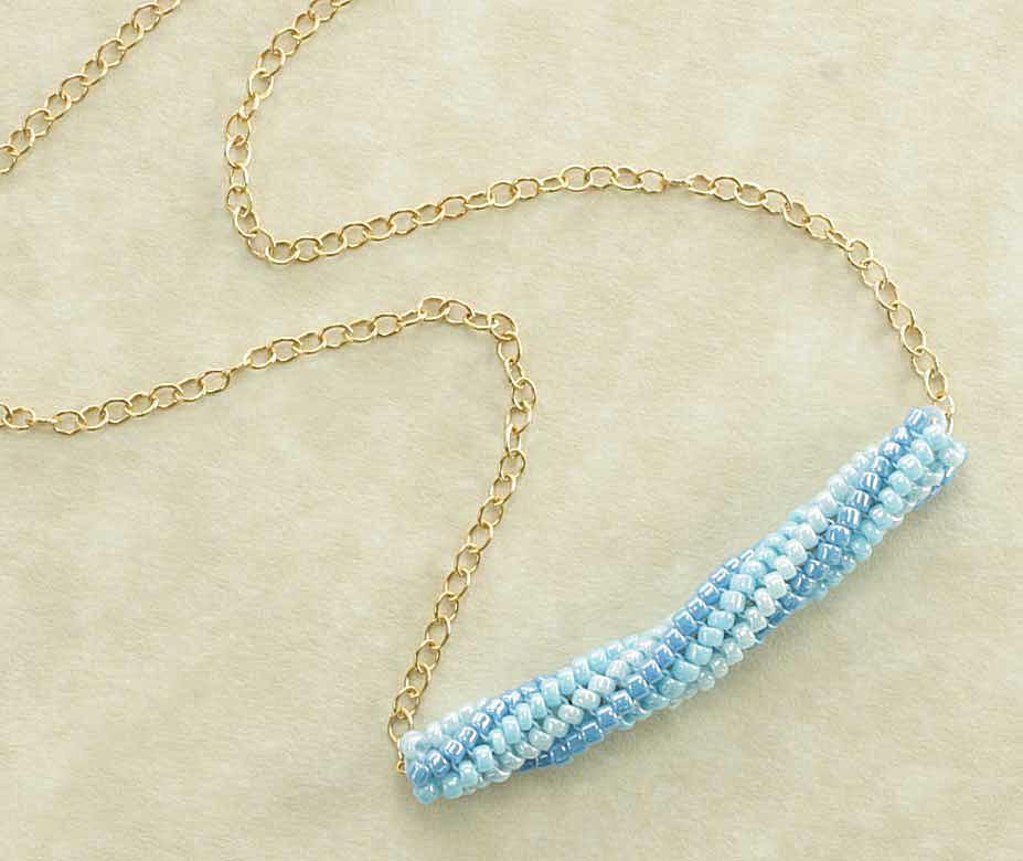 Tubular Herringbone Bead Necklace Tutorial