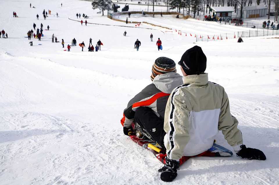 A Glissade Montreal Slide Sledding Tobogganing Guide - The best sledding hills in north america