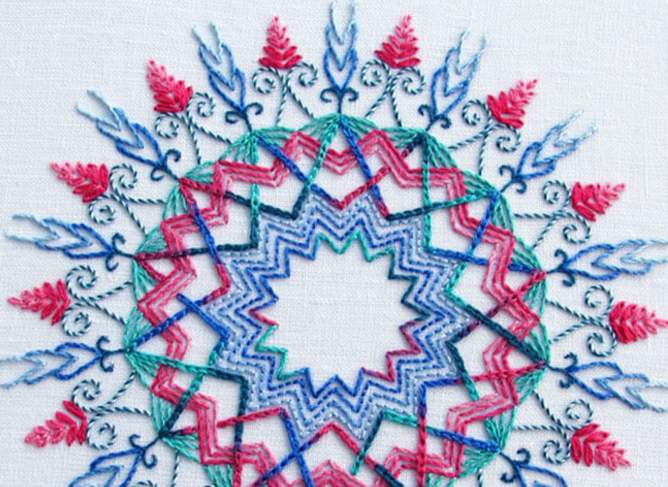 Embroidery patterns and kits for advanced stitchers