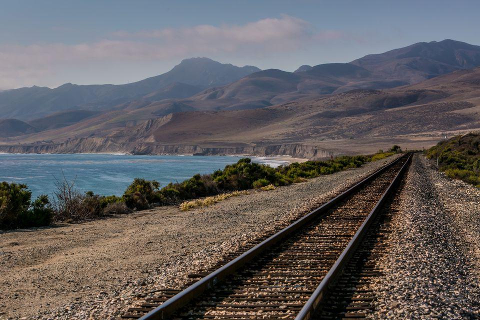 train tracks in California