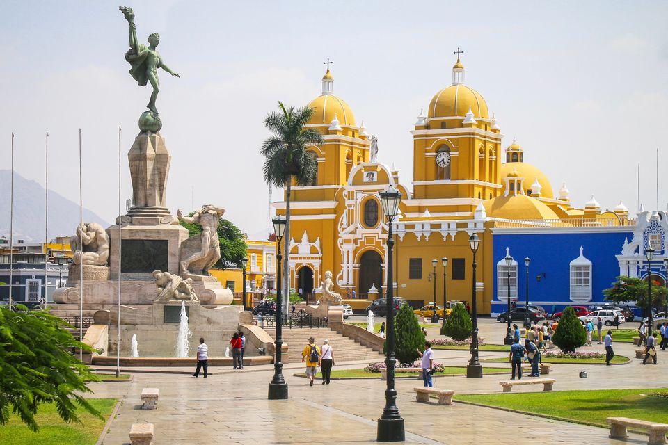 Central square - Trujillo, Peru