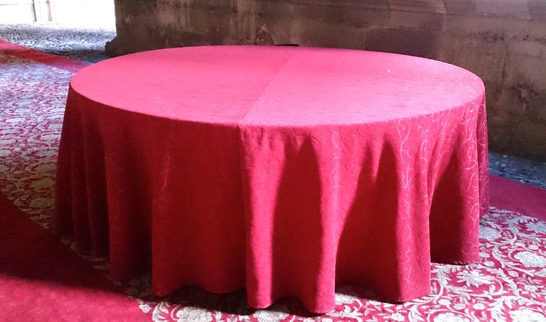 2 formar de hacer una funda o falda para mesa redonda