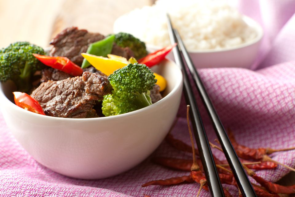 Thai beef and broccoli