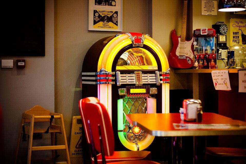 Jukebox in a soda shop.