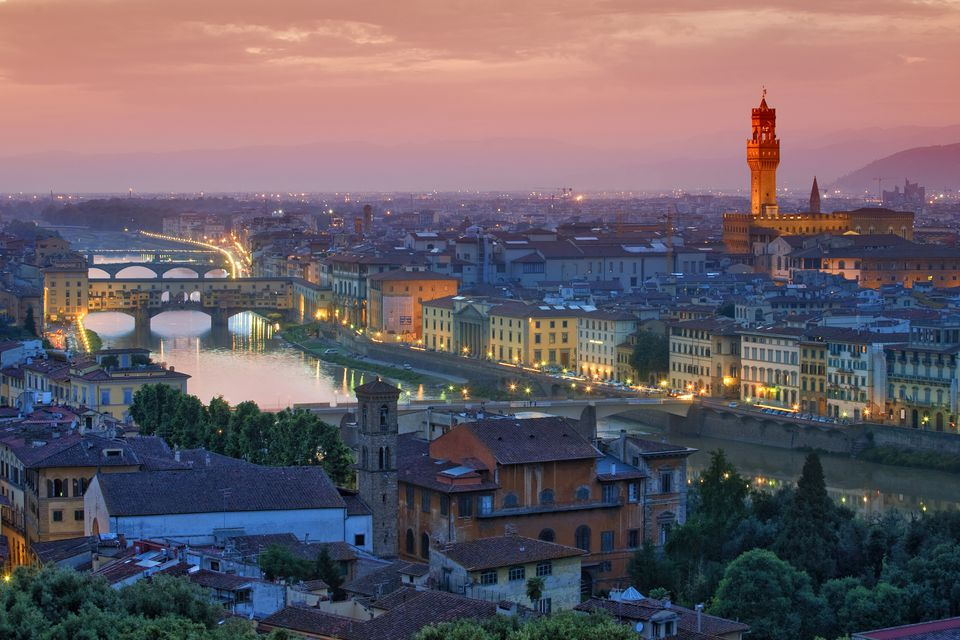 Overview of Florence by night