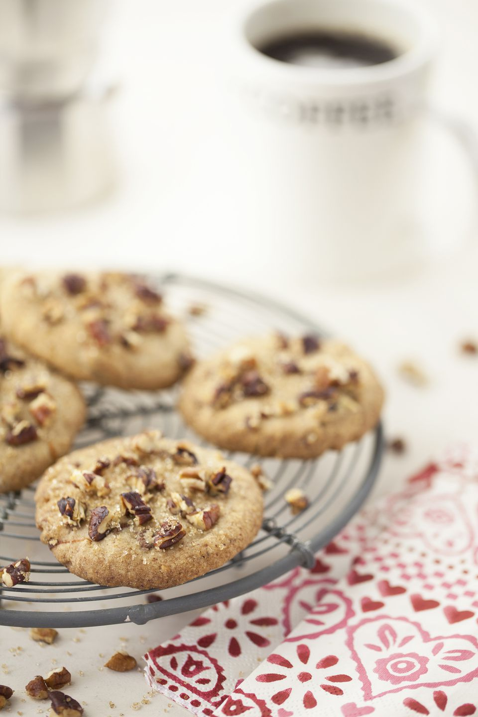 butter pecan cookies and coffee