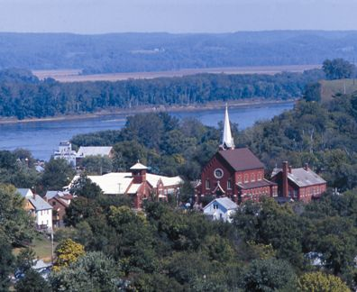 View of Hermann, Missouri