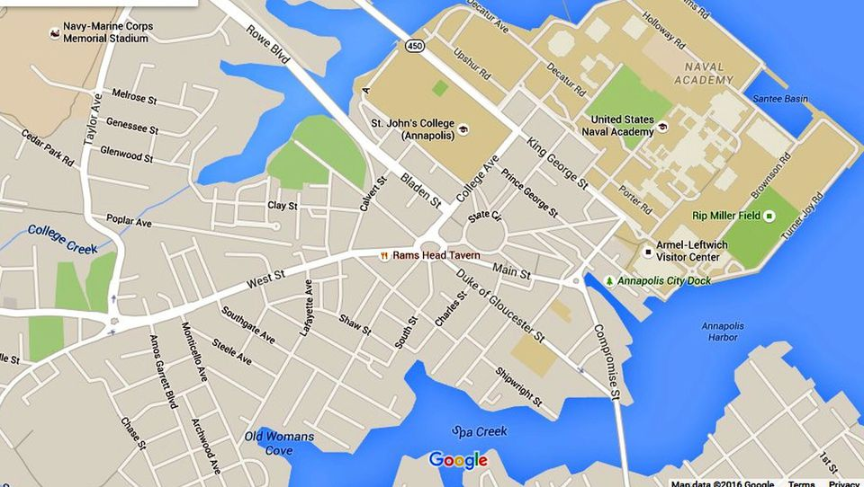 Annapolis Maps Downtown And The Surrounding Area - Anápolis map