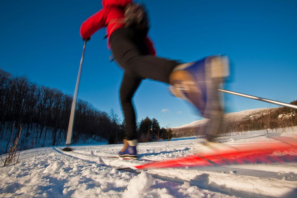 Parc Jean-Drapeau winter attractions and activities incldue cross country skiing.