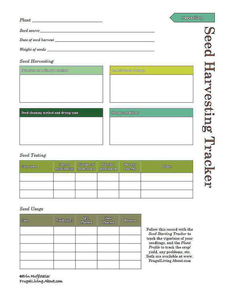 Galerry printable plant profiles