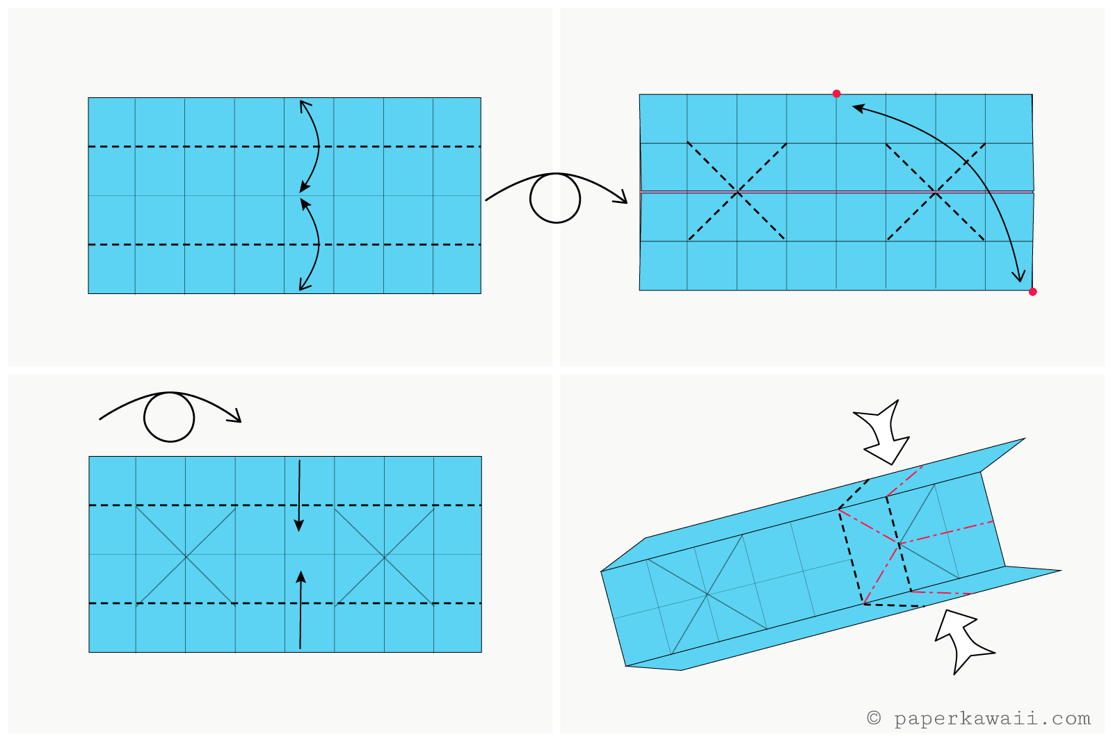 Origami candy box instructions jeuxipadfo Image collections