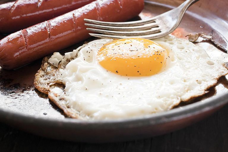 Sausages and egg
