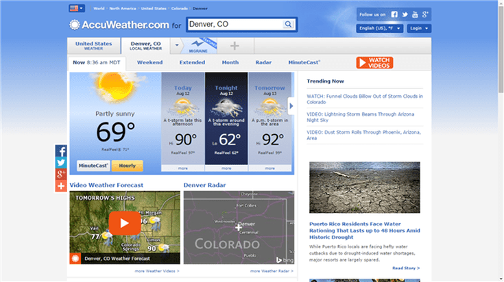 Of The Best RV Weather Apps - Accuweather denver colorado