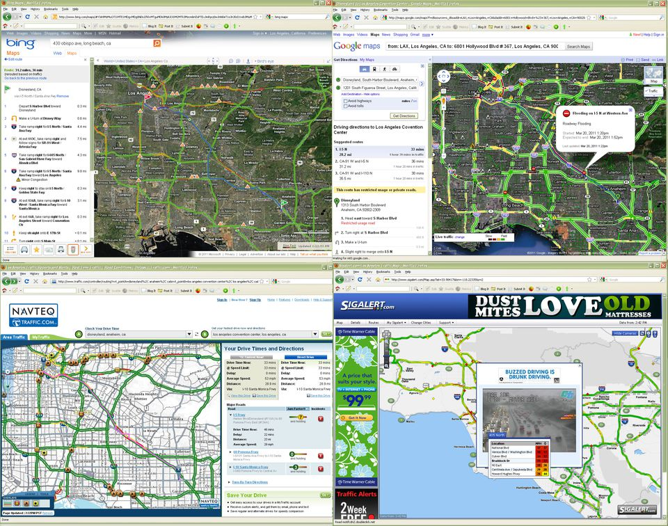 Bing Maps Los Angeles Traffic and Directions