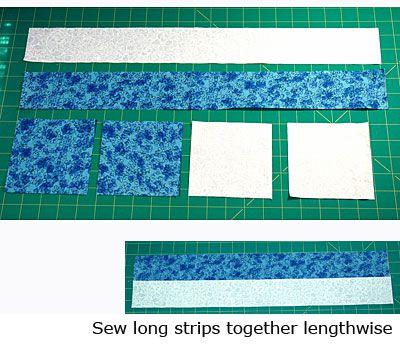 Double Four Patch Quilt Block Pattern