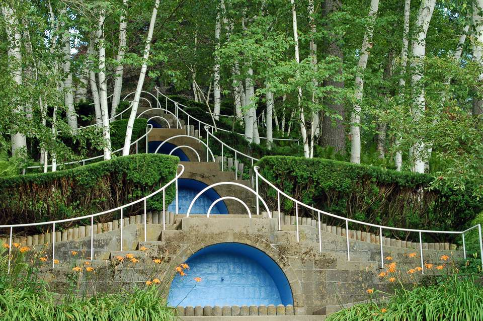 Picture of Naumkeag Blue Steps Designed by Fletcher Steele