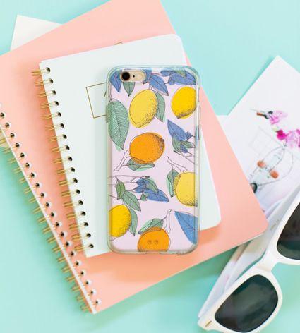 diy marbled nail polish phone case