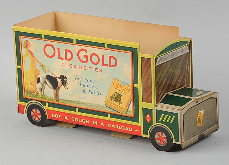 Old Gold Cigarettes Cardboard Advertising Truck