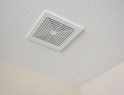 Easy fix for ceiling hole too big for recessed light - Retrofit bathroom fan with light ...