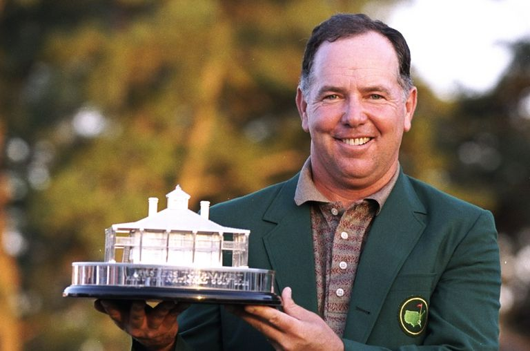 The Masters Trophy held by 1998 winner Mark O'Meara