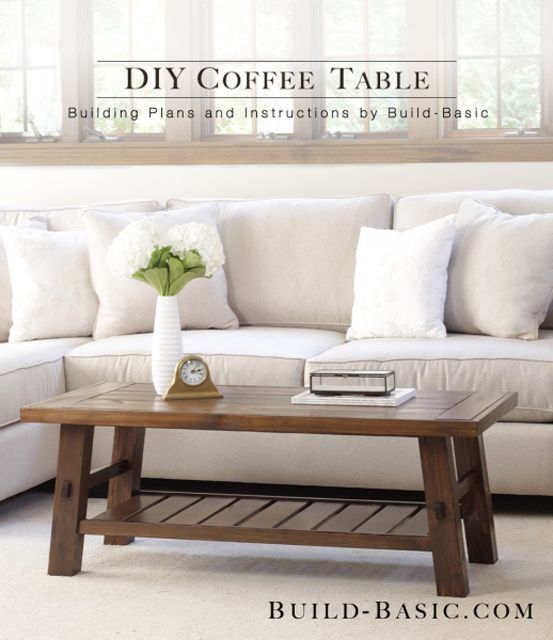 living room coffee table set. A wooden coffee table in a living room  19 Free Coffee Table Plans You Can DIY Today