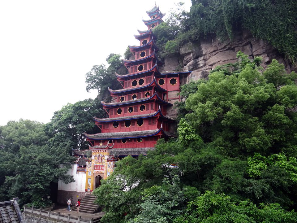 Shibaozhai Temple on the Yangtze River in China