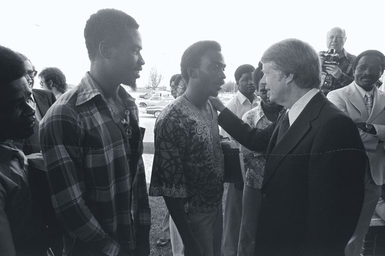 Jimmy Carter Greeting African American Supporters