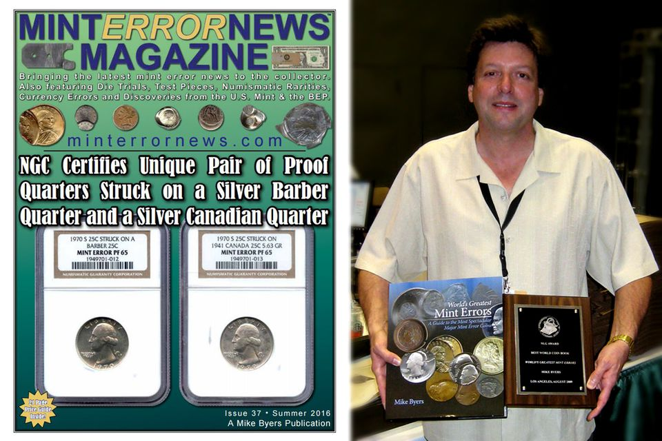 Mike Byers: Professional numismatist and award-winning author specializing in error coins.