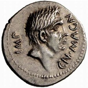 Roman Imperatorial Silver Denarius of Cn. Pompeius Junior with M. Minatius Sabinus