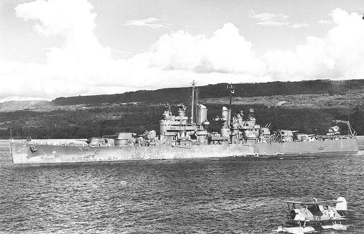 USS Montpelier during World War II