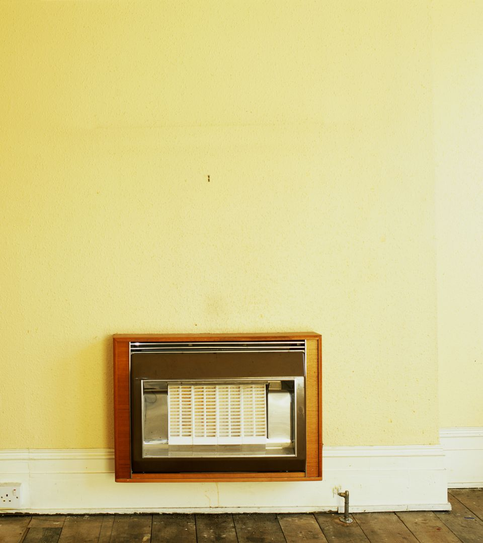 Heater mounted on wall