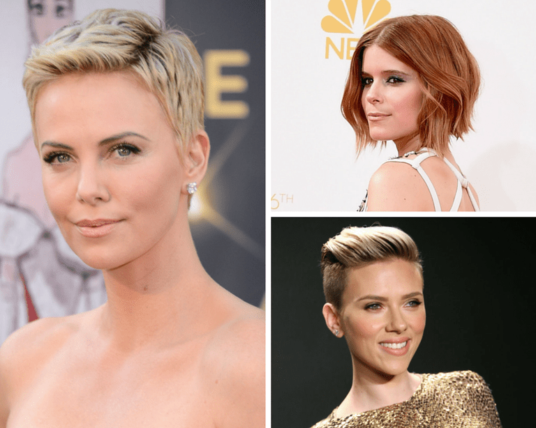 Charlize Theron in a pixie, Kate Mara in a shag & Scarlett Johannson in an edgy pompadour